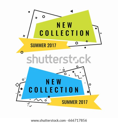 New collection of summer 2017 promotional logotypes set