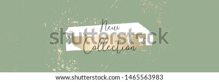 New collection trendy chic gold blush background for social media, advertising,