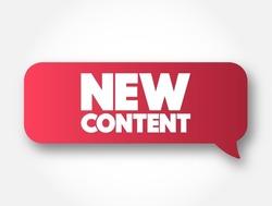 New Content text message bubble, concept background