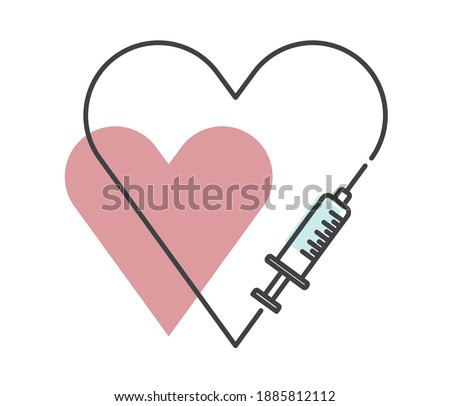 new coronovirus vaccine banner, vector. Medicated ampoule and syringe. Vaccination concept. Injection syringe needles. Medical equipment. Healthcare, hospital and medical diagnosis. Flat style vector