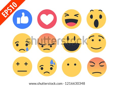 new cute modern like love and face emoji icon vector.
