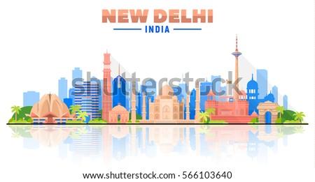 new delhi  india   city skyline