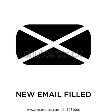 New email filled envelope icon vector isolated on white background for your web and mobile app design, New email filled envelope logo concept