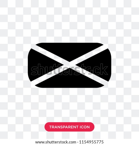 New email filled envelope vector icon isolated on transparent background, New email filled envelope logo concept