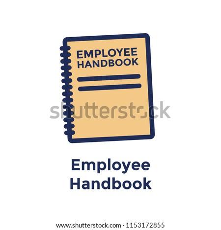 New Employee Hiring Process icon w Employee Handbook