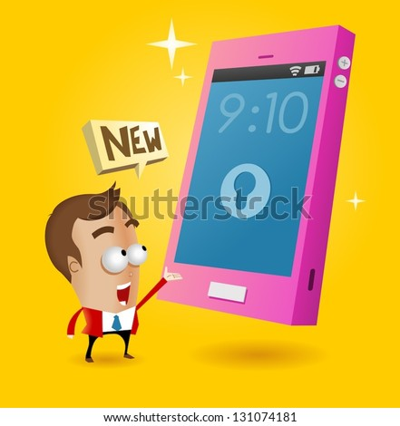 New flagship of smartphone. Vector illustration