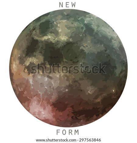 new form moon space vector