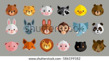 New Funny Animal Vector Set