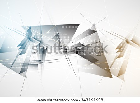 New future technology concept abstract background for business solution #343161698