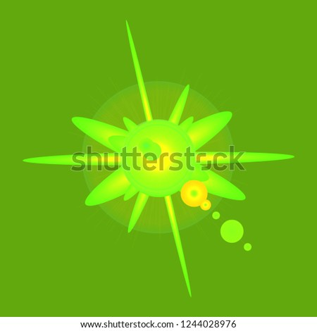 New glamorous fairy abstract object glow splash motion.