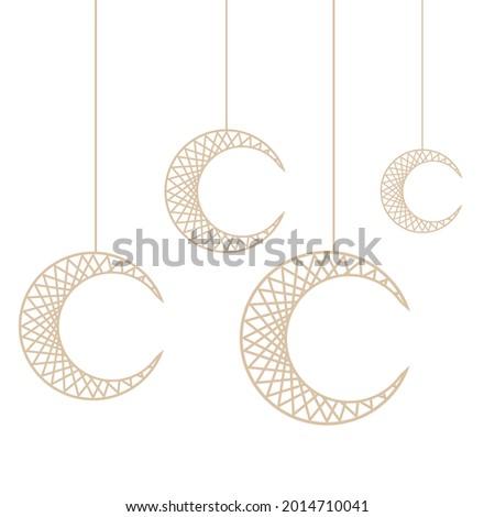new hanging moon vector design