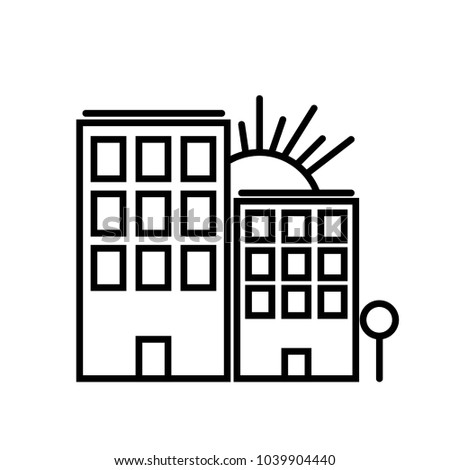 New high building icon vector. Graphic design