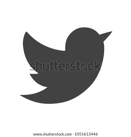 New icon of bird. Isolated on white. Vector Illustration EPS 10
