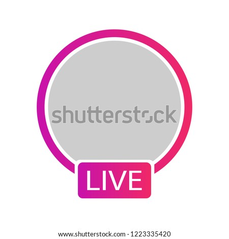 New icon social media avatar frame. Live stories user video streaming. Colorful gradient logo, symbol, sign. Vector illustration EPS 10 Stock photo ©