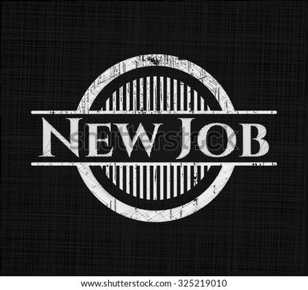 New Job chalkboard emblem