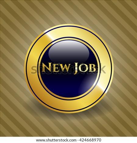 New Job golden emblem