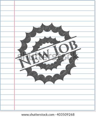New Job pencil strokes emblem