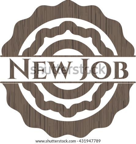 New Job wooden emblem