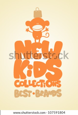New kids collections funny design template.