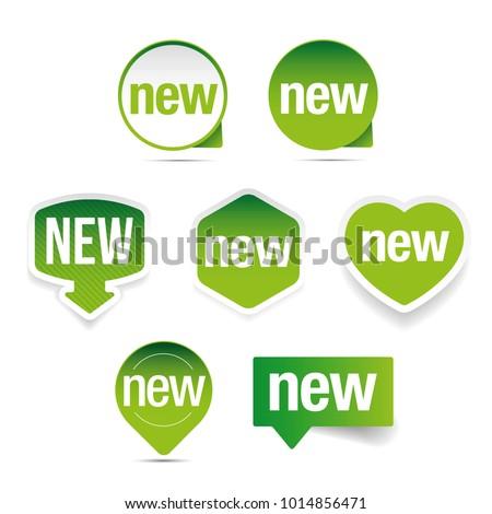 New label set sticker
