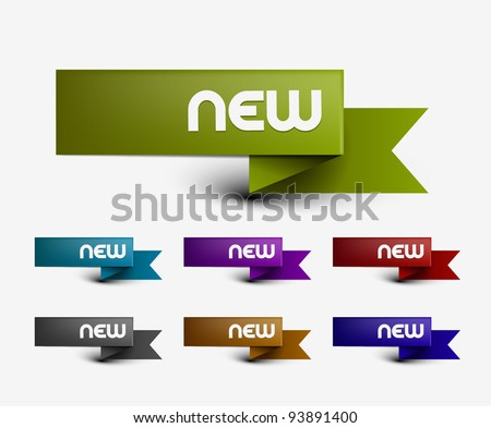 New labels, tag, sticker design element . Vector. - stock vector