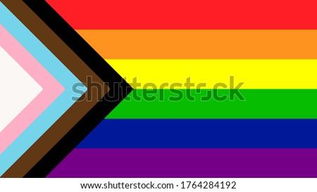New LGBTQ+ Rights Pride Flag  Stockfoto ©