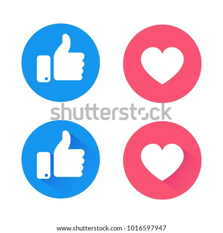 New like and love icons of Empathetic Emoji Reactions, printed on paper.Vector social media Illustration