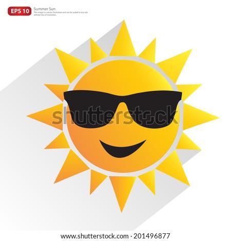 new men orange sun with glasses ...