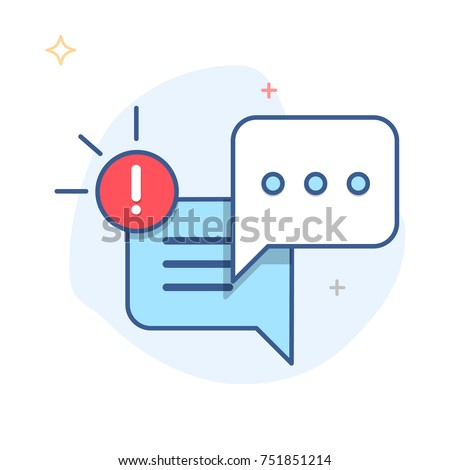 New Message, Dialog, Chat Speech Bubble Notification icon vector