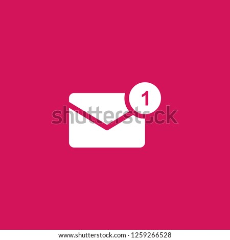 new message icon vector. new message sign on pink background. new message icon for web and app