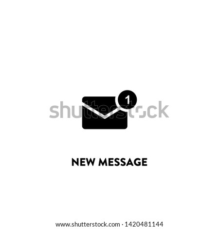 new message icon vector. new message sign on white background. new message icon for web and app