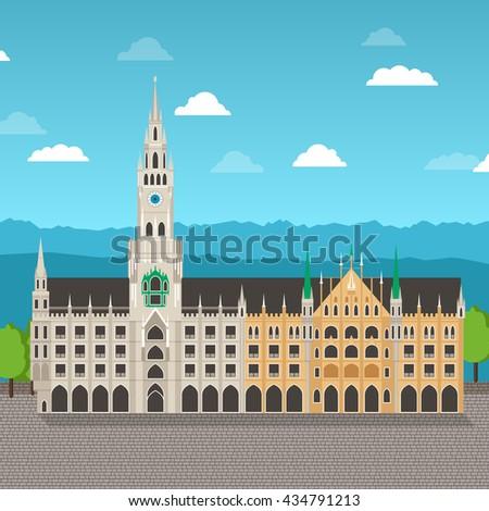 new munich city hall in bavaria