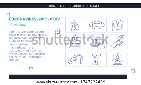 New normal lifestyle concept,After Corona virus outbreak,Infographic Tells How to Prevent Coronavirus Infection,vector illustration for graphic design, website template or banner