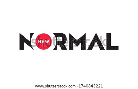 New Normal text word design vector on white background Stock fotó ©