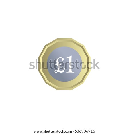 New one pound coin vector