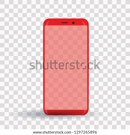 new popular red smartphone on