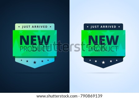New product badge. Just arrived. Vector stamp for web or print.