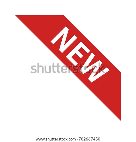 New product corner ribbon banner label vector icon for websites and packaging