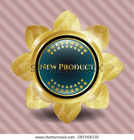 New product gold shiny flower
