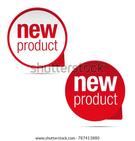 New product label tag sign