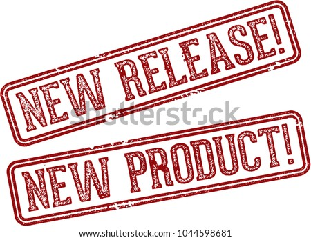 New Product Release Rubber Stamp