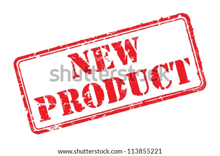 New product rubber stamp vector illustration. Contains original brushes