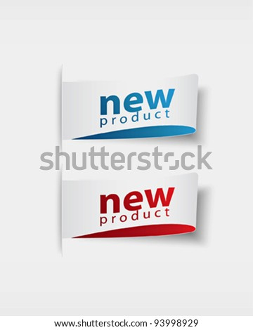 new product  stickers and tags