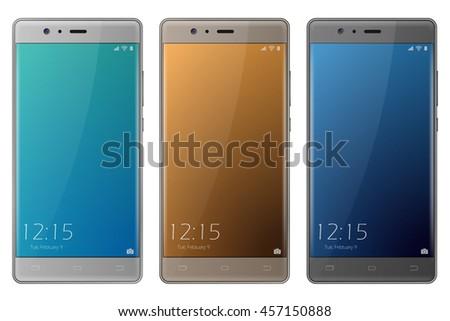 new realistic set of smartphone