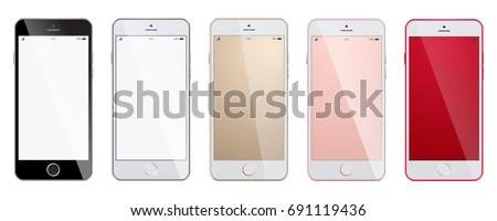 new realistic smartphones set