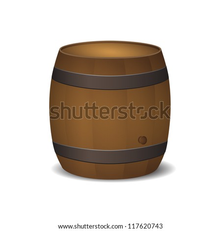 new royalty free icon of old style barrel isolated on white background