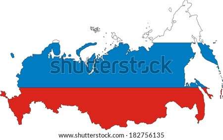 Vector Images, Illustrations and Cliparts: New Russia map and ...