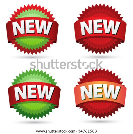New sign icons for web design - stock vector