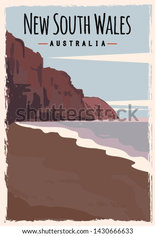 new south wales retro poster
