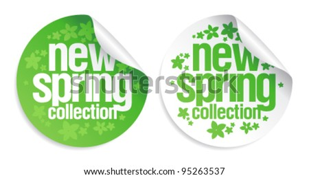 New spring collection stickers set.